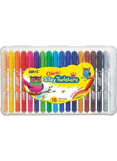 Amos Ucu Bır Arada Boya Colorıx Sılky Twıster 18Lı Renkli